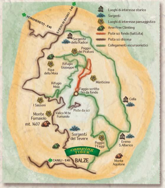 Mappa dei Sentieri